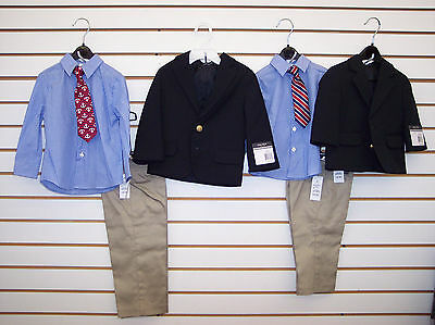 Infant/Toddler/Boys $80-$89.50 Nautica Navy & Khaki 4-Pc. Suit Size 12 mo - 7