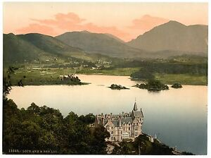 2 Repro Pictures of Loch Awe Hotel Ben Lui & Kilchurn Castle Scotland Old Photos