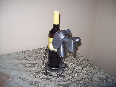 Unique Puppy Dog Wine Bottle Holder Solid Metal