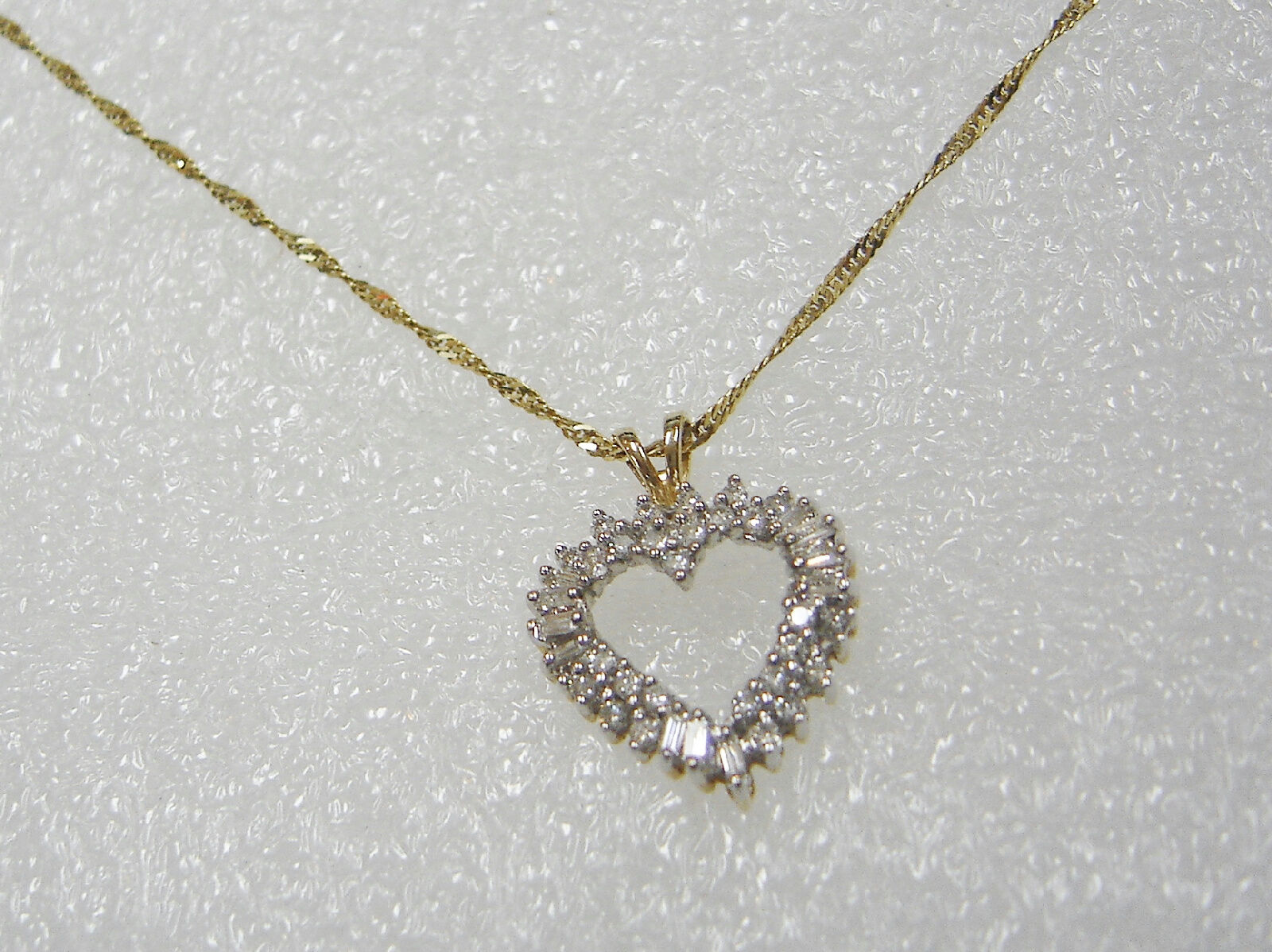 14k yellow gold 38 diamond 12 carat heart pendant necklace 18 14k yellow gold 38 diamond 12 carat heart pendant necklace 18 inch chain n361 t mozeypictures Gallery
