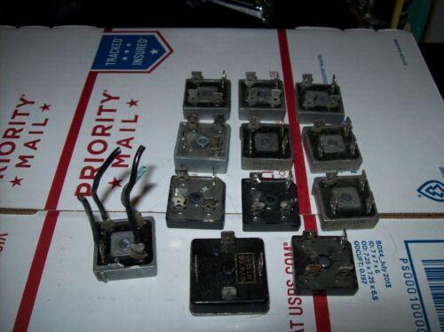 12 USED Metal Case Single Phase Diode Bridge Rectifier