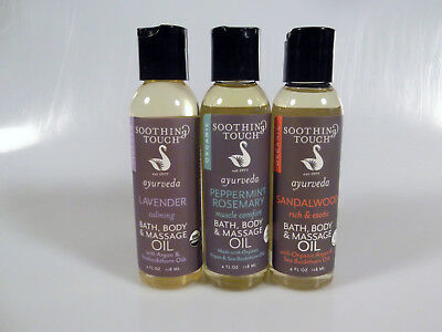 - Soothing Touch Massage Oil Lavender Peppermint Sandalwood Organic 2 Pack Variety