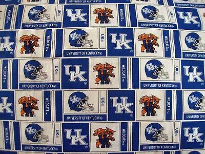 University of Kentucky Wildcats cotton fabric NCAA 1/8 yard 9