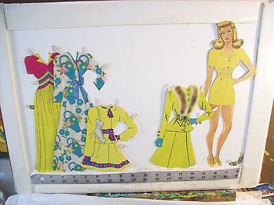 3 Pretty Girls   large teen paper dolls Whitman  vintage flocked clothes for sale  Eau Claire