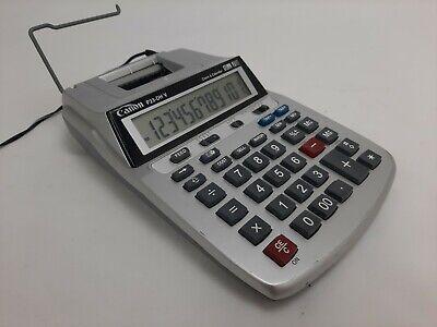 Canon P23-DHV Printing Calculator w/ Power Cord Clock Calendar Gray Accounting!