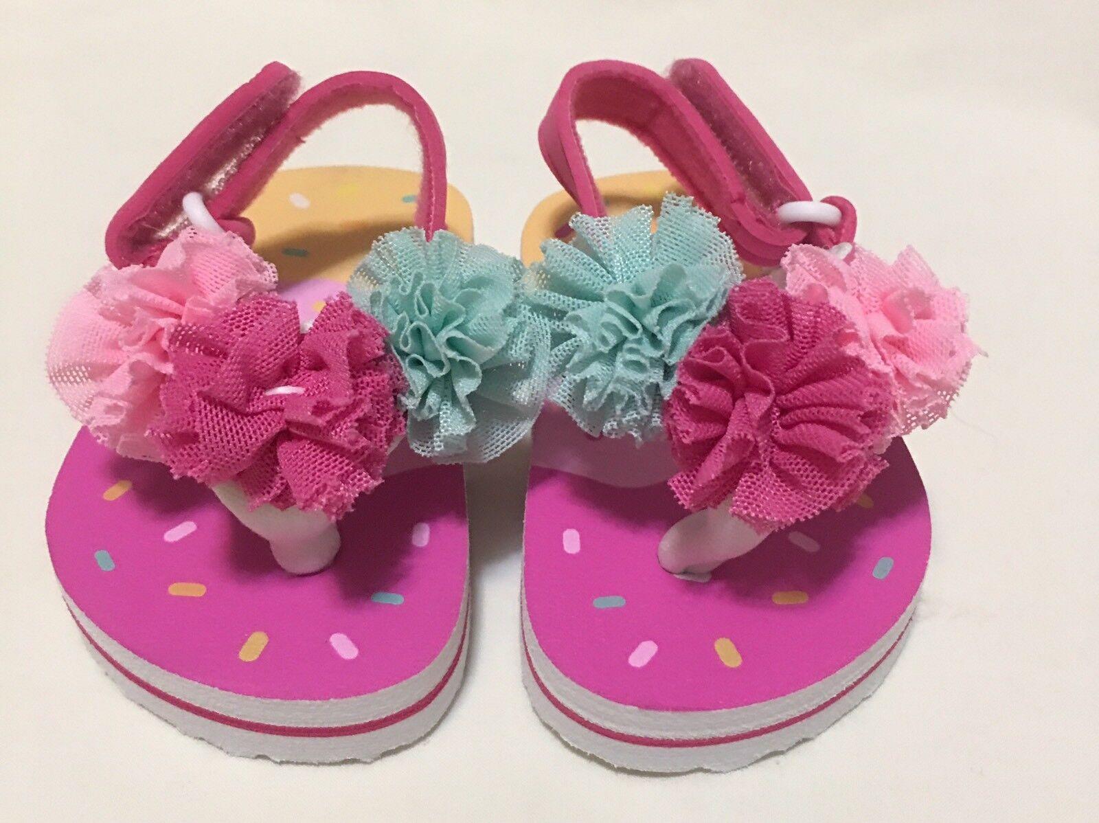 Baby Infant Girls Flip Flops Flowers Kids Shoes Sandals Supe