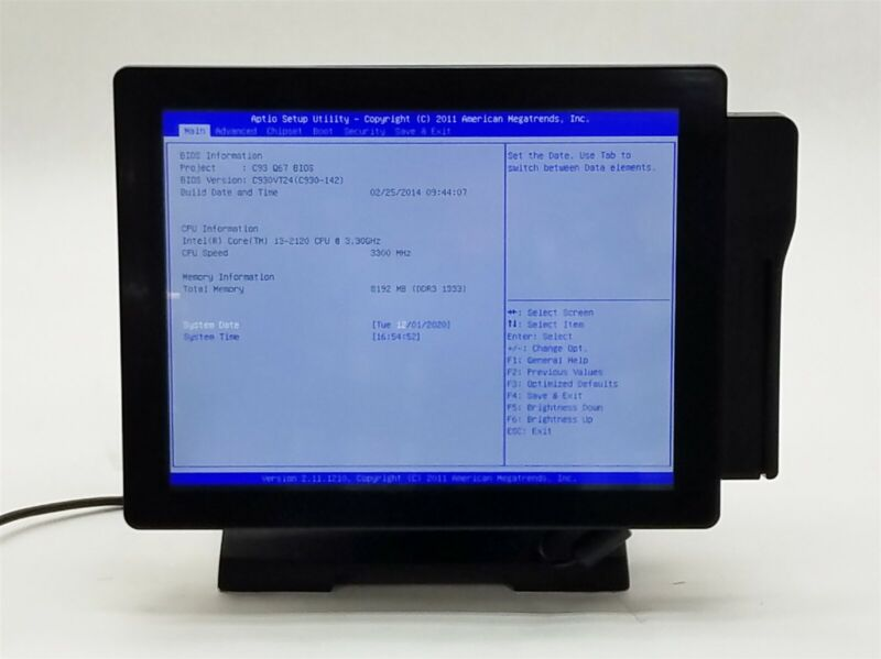 "Touch Dynamic Breeze Performance POS 15"" Terminal i3-2120 3.30GHz 8GB 2*320GB"
