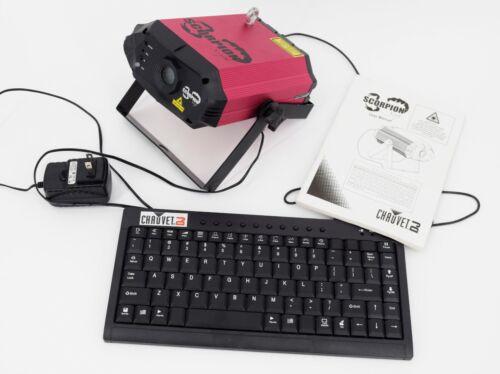 Chauvet DJ Scorpion Script Custom Text and Patterns Green Laser w Keyboard
