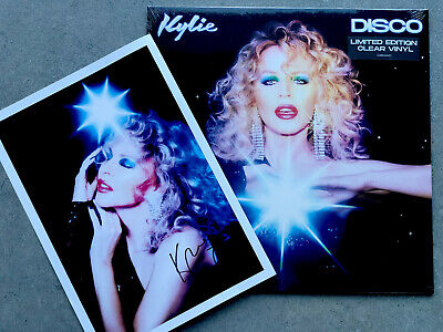 KYLIE- DISCO ALBUM - CLEAR VINYL LIMITED EDITION, Sealed & Signed Picture...
