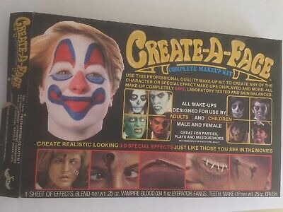 Create-A-Face 3D Special Effects Complete Makeup Kit 1985 Vintage Numbered  - Special Effects Makeup Kit