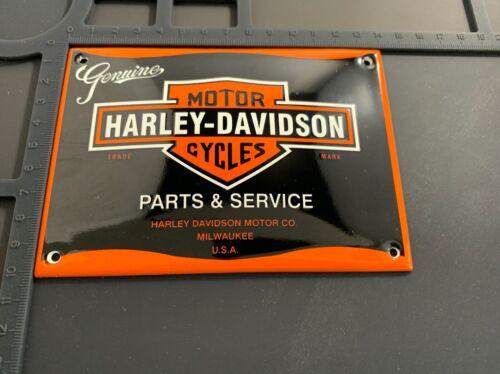 Retro Harley Davidson Service Enamel Metal Garage Shop Wall Plaque Sign Tile