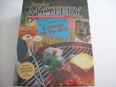 Murder Mystery Party Game - A Murder on the Grill - New/Sealed