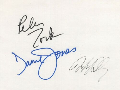 THE MONKEES   SIGNED 4X6 CARD