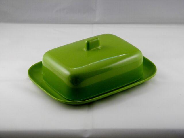 Melamin Butterdose grün Faplana Portugal Original 60er Jahre Design