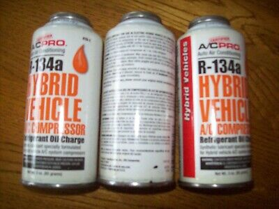 A/C Pro R-134a A/C Compressor Refrigerant Oil Charge Hybrid Synthetic LOT of 3  ()
