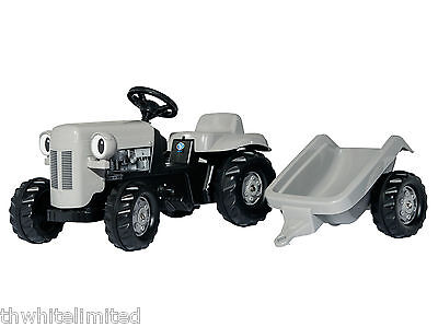 ROLLYKID ROLLY KID TOYS RIDE ON GREY FERGIE PEDAL TRACTOR & TRAILER 014942 (CH)