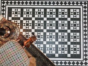 Tile Samples: Dorset Black Victorian Porcelain Wall & Floor Indoor Outdoor Tiles