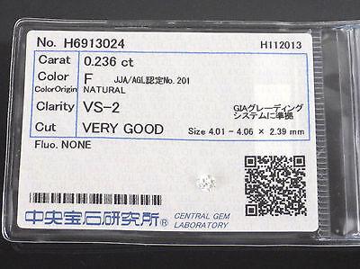 0.236 Carat VS2 F Color VERY GOOD Round Cut Loose Natural Diamond +Grading