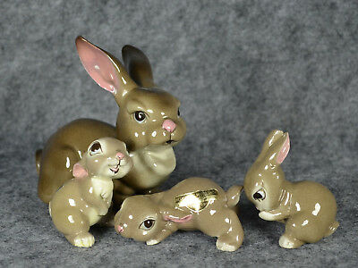 Hagen-Renaker DW 1950s Rabbit Family