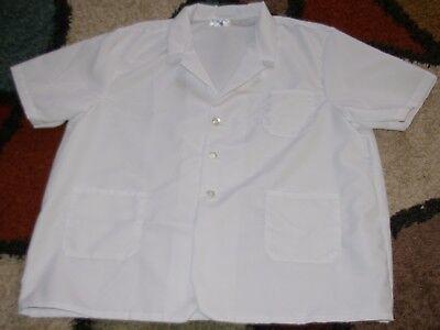 Best Medical Women S/S Lapel Lab Coat 3 Pocket White 32