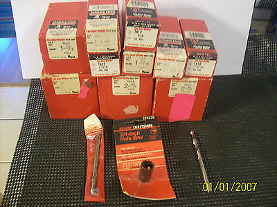 MORSE TA SERIES HOLE SAWS THE REAL MCCOY HOLE SAWS 12 PCS PLUS BONUS