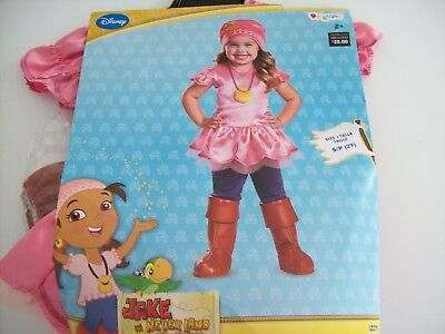 Izzy Deluxe Costume Disney Jake And The Neverland Pirates Halloween Girls 2T-NEW - Izzy Jake Neverland Pirates Halloween Costume