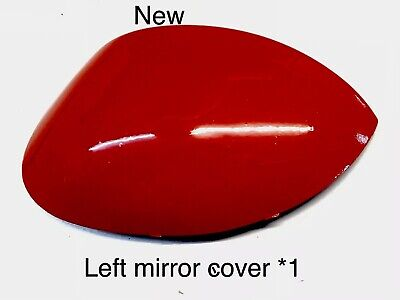 "Peugeot 206 206+ Left Passenger Wing Mirror Cover Cap Near Side Red Arden ""new"""