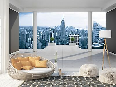 Wall Mural Photo Wallpaper Picture EASY-INSTALL Fleece New York 3D Window View