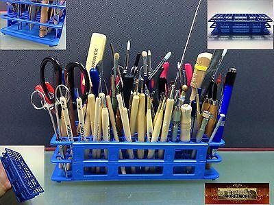 M00504 MOREZMORE 90-Hole Mini Tool Brush Holder Stand Organizer Caddy Rack T20