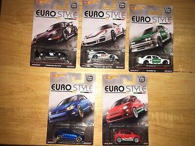 Hot Wheels Euro Style 2016 5 Car Set