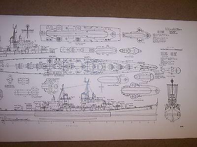 uss atlanta / juneau II ship model boat plan