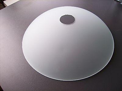 Glas Lampenschirm Ersatzglas Schale weiß Lochmaß Fassung ø 40mm max ø 300mm