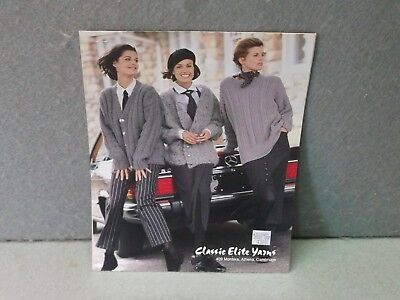 GREY FLANNEL SWEATERS 3 KNITTING PATTERNS Classic Elite Yarns Vintage 1992