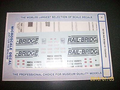 "Microscale O Decals ""Rail Bridge"" 45' Container Atlas MTH K-Line Lionel 48-126"