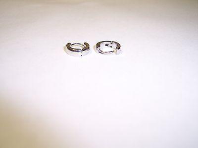 Silver Huggies Earrings ( Stainless Steel 10mm Silver SMALL / PETITE Hoop Huggie Earrings  )