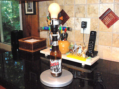 COORS LIGHT HANDMADE TABLE LAMP PREOWNED