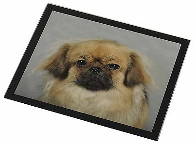 Tibetan Spaniel Dog Black Rim Glass Placemat Animal Table Gift, AD-TS2GP