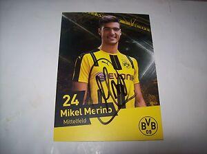 Mikel Merino Borussia Dortmund BVB Autogrammkarte 2016/17, 16/17 HANDSIGN.