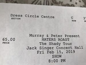 1 ticket to Haters Roast: The Shady Tour