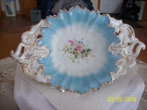 C.T. Carl Tielsch Antique Rare Porcelain Reticulated & Floral Scalloped Bowl