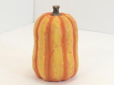 Small Hand Painted Plaster Paper Mache Pumpkin Gourd Halloween Autumn Fall - Hand Painted Gourds Halloween