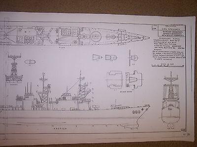 USS spruance DD 963 ship boat model boat plan
