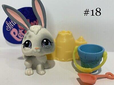Authentic Littlest Pet Shop - Hasbro LPS - RABBIT #18 W/ Accessories