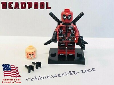 Custom Marvel Deadpool Wade Wilson minifigure compatible with LEGO - USA Seller!