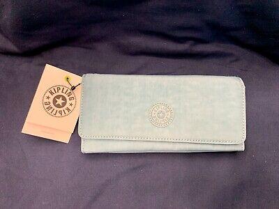 NWT Kipling New Teddi Wallet Aqua Frost Retail $34