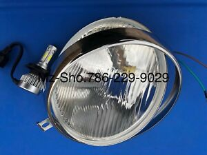MZ ETZ 250/251/301 Headlight H4 ,Rim and Bulb Led