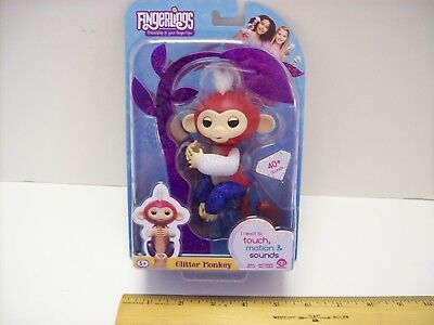 Wowwee Fingerlings Glitter Monkey Liberty  Red  White  And Blue  Interactive New