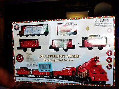 Lionel Train set Northern Star Christmas Train 29 pieces Battery operated