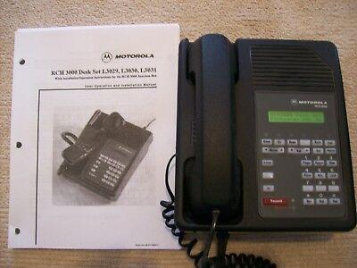 Motorola Rch3000 Two-way Radio Deskset L3030a Power Supply Install. Manual