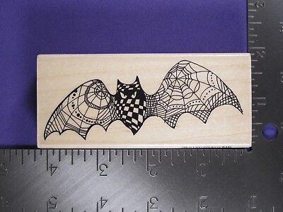 **SALE** RUBBER STAMP - BAT DOODLE (HALLOWEEN) STAMPENDOUS - Halloween Stamp